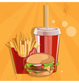 fast food with burgerfries and cola vector image