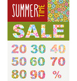 Summer sale template for flyers Set font of vector image