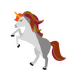 unicorn cartoon icon image vector image