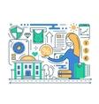 Bank Services - line design composition vector image