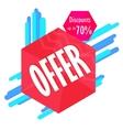 Special offer sale tag discount symbol mega sale vector image vector image