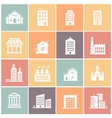 set of various buildings web icons vector image