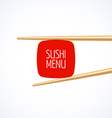 Sushi menu cover vector image vector image