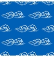 Sea waves and surf seamless pattern vector image