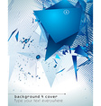 modern poligonal background for brochure and vector image vector image