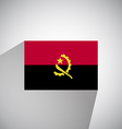 Flat Flag of Angola vector image