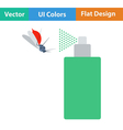 Flat design icon of mosquito spray vector image
