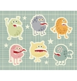 Cute monsters set in retro style vector image
