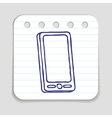 Doodle Mobile phone icon vector image