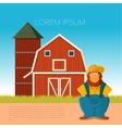 Farm banner with a farmer vector image