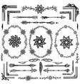 hand drawn boho design elements vector image