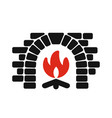 home fireplace icon vector image