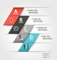 Business step infographics elements vector image vector image
