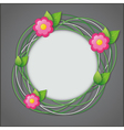Abstract creative floral background vector image vector image