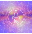 concept of yoga human in lotus pose for logo vector image