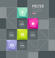 Modern posters squares template design vector image
