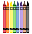 Wax crayons vector image