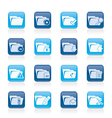 Different kind of folder icons vector image vector image