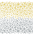 Seamless scattered golden silver rhinestones vector image
