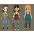 All type body girls vector image