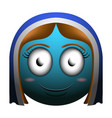 happy girl emoji vector image