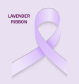 lavender ribbon the symbol of the problem of vector image