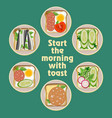 set different toast vector image
