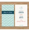Wedding card pattern green 02 vector image