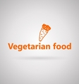 with icon for vegetarian food vector image