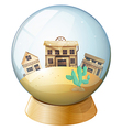 Wooden houses inside a dome vector image