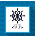 nautical sea life related icons image vector image