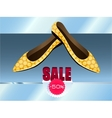 Yellow shoes with dots vector image