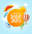summer sale concept labels or tags vector image vector image
