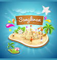 songkran festival summer in thailand vector image vector image