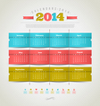 Calendar of 2014 year vector image