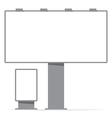 billboard board and citylight screen contour vector image