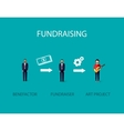 flat of an infographic fundraising concept a vector image