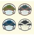 Set of vintage lumberjack labels and design vector image