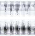 Grey and black digital equalizer on white vector image