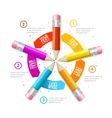 Option Banner Pencil Infographic vector image vector image