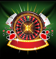 casino composition vector image vector image