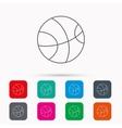 Basketball icon Sport ball sign vector image
