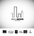 Black and white real estate logo vector image