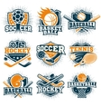 Colorful Sport Emblems Set vector image
