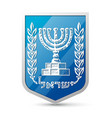 Emblem of Israel vector image