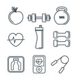 exercising related object vector image