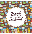 Flat Pattern Back to School Background vector image