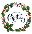 merry christmas lettering banner for web or social vector image