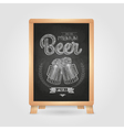 Poster with Beer in mag Chalk drawing on blackboa vector image