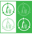 recycling bin icons vector image